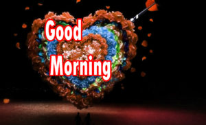 Sweet Romantic Lover Good Morning Wishes wallpaper for facebook