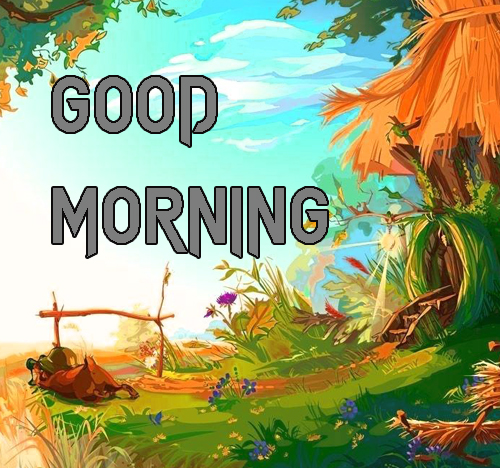 Cartoon Good Morning Wishes Images Photo for Whatsapp