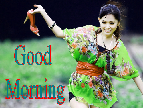 Beautiful Girls Good Morning Photo Wallpaper Download
