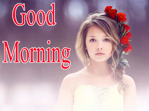 Beautiful Girls Good Morning Photo pics Download