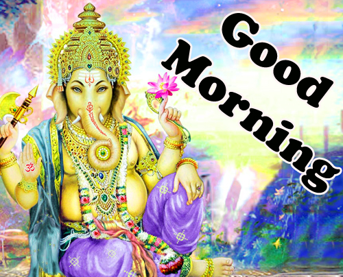 Good Morning God Bless Images Pics With Ganesha