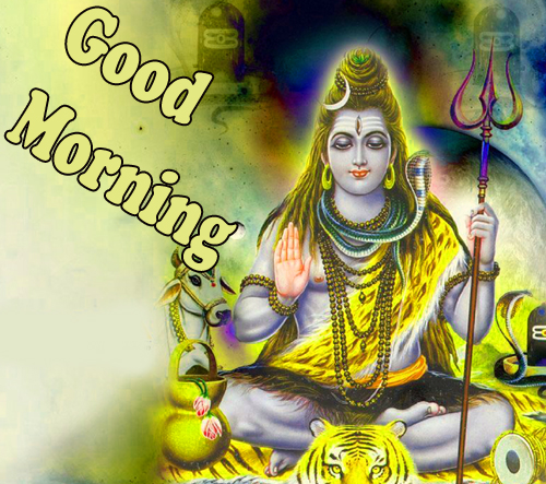 Good Morning God Bless Images photo With Lord Shiva
