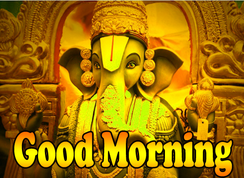 Good Morning God Bless Images Wallpaper With Lord Ganesha