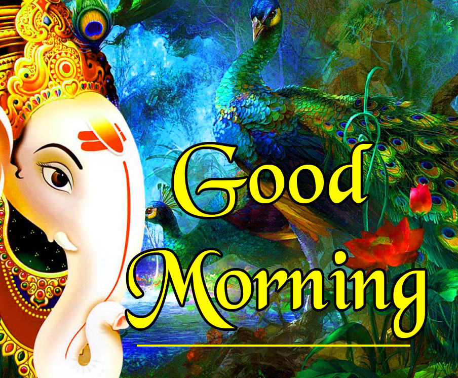 God Good Morning Images for best friends With Lord Ganesha