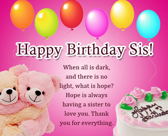 Sister Happy Birthday Images