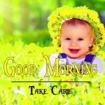 Cute Baby Flower Good Morning Wishes Images Download