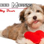 New Latest Puppy Lover Good Morning Wallpaper