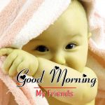 Good Morning Pics Photo With Cute baby