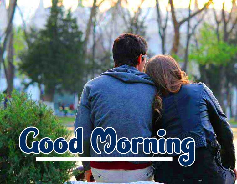 Romantic Couple Good Morning Wallpaper Download