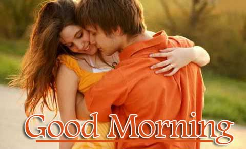 Romantic Couple Good Morning Wallpaper Free Download