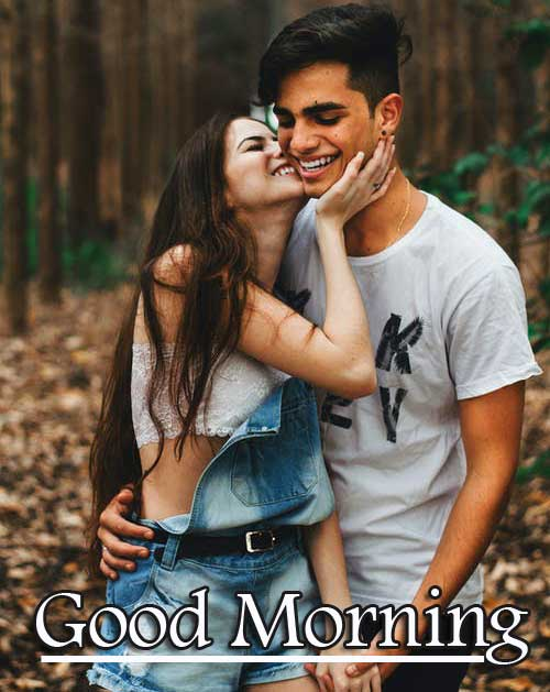 Very Romantic Couple Good Morning Wallpaper Free