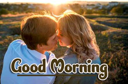Kiss Romantic Couple Good Morning Images Pics