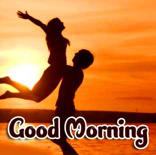 Very Romantic Couple Good Morning Wallpaper for Whatsapp