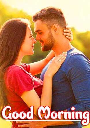 Romantic Couple Good Morning Wallpaper for Facebook