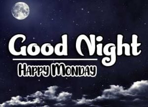 Beautiful good night monday images Photo Wallpaper free Download
