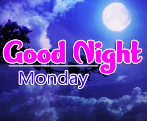 Beautiful good night monday images Wallpaper Pics