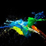 Colorful HD Black Background