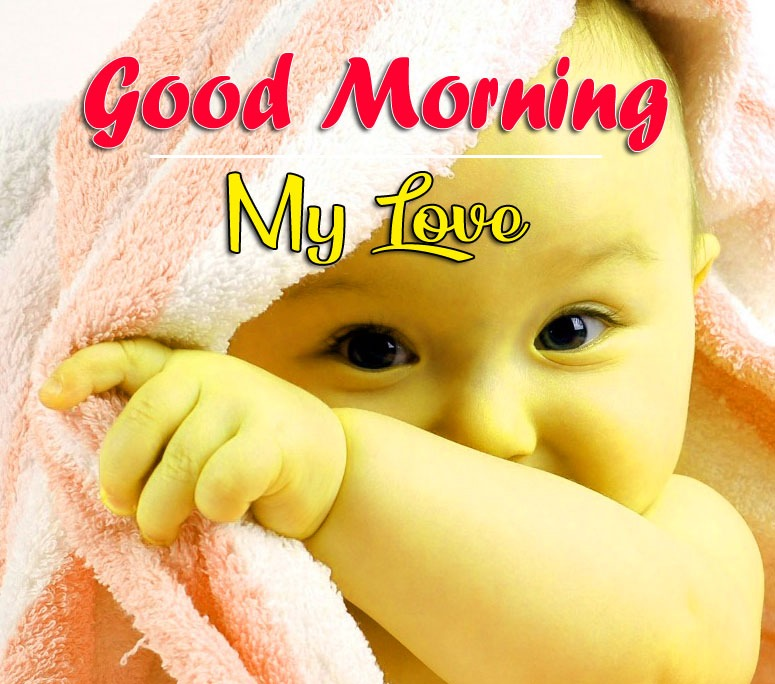 Cute Baby Boy Good Morning Photo Download