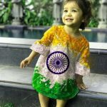 Cute Baby Gilrs Indian Flag Whatsapp DP Pics Download Free