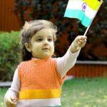 Cute Baby Girls Indian Flag Whatsapp DP Pics Download