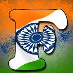 F Name In Indian Flag Whatsapp DP