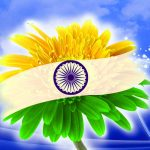 Flower Indian Flag Whatsapp DP Images Download Free