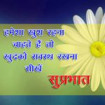 Free Hindi Quotes Good Morning Images With Flower