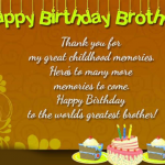 Happy Birthday Wishes For Brother Images pictures free hd