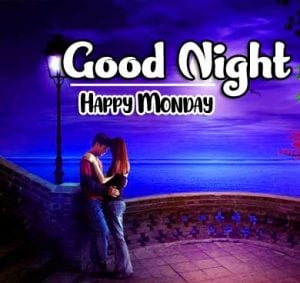Happy Romantic Beautiful good night monday images Pics Download Free