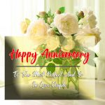 Happy Wedding Anniversary Images With Flower Free Download