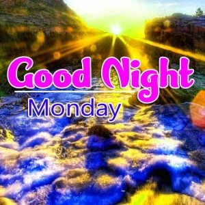 Latest Best Beautiful good night monday images Pics Download