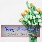 New HD Flower Happy Wedding Anniversary Pics Download