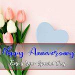 Pink Flower Happy Wedding Anniversary Images Download