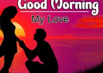 Romantic Love Couple Good Morning Images for Boyfriend
