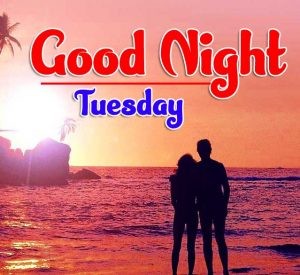 Romantic Lover free Good Night Tuesday Images Download