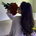 Stylish Girls Whatsapp DP Images With red Rose