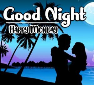 Sweet Love Couple Beautiful good night monday images Pics Download Free