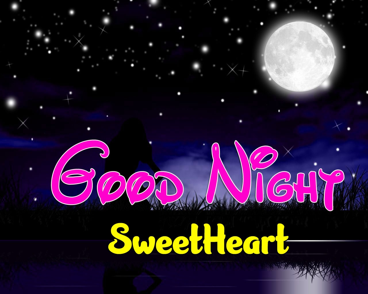 Free Girlfriend Good Night Wishes Wallpaper For Sweet Heart
