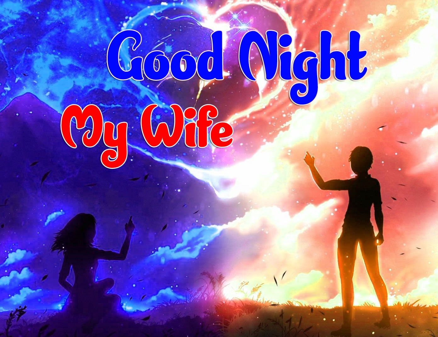 Free Top Quality Girlfriend Good Night Wishes Wallpaper Download
