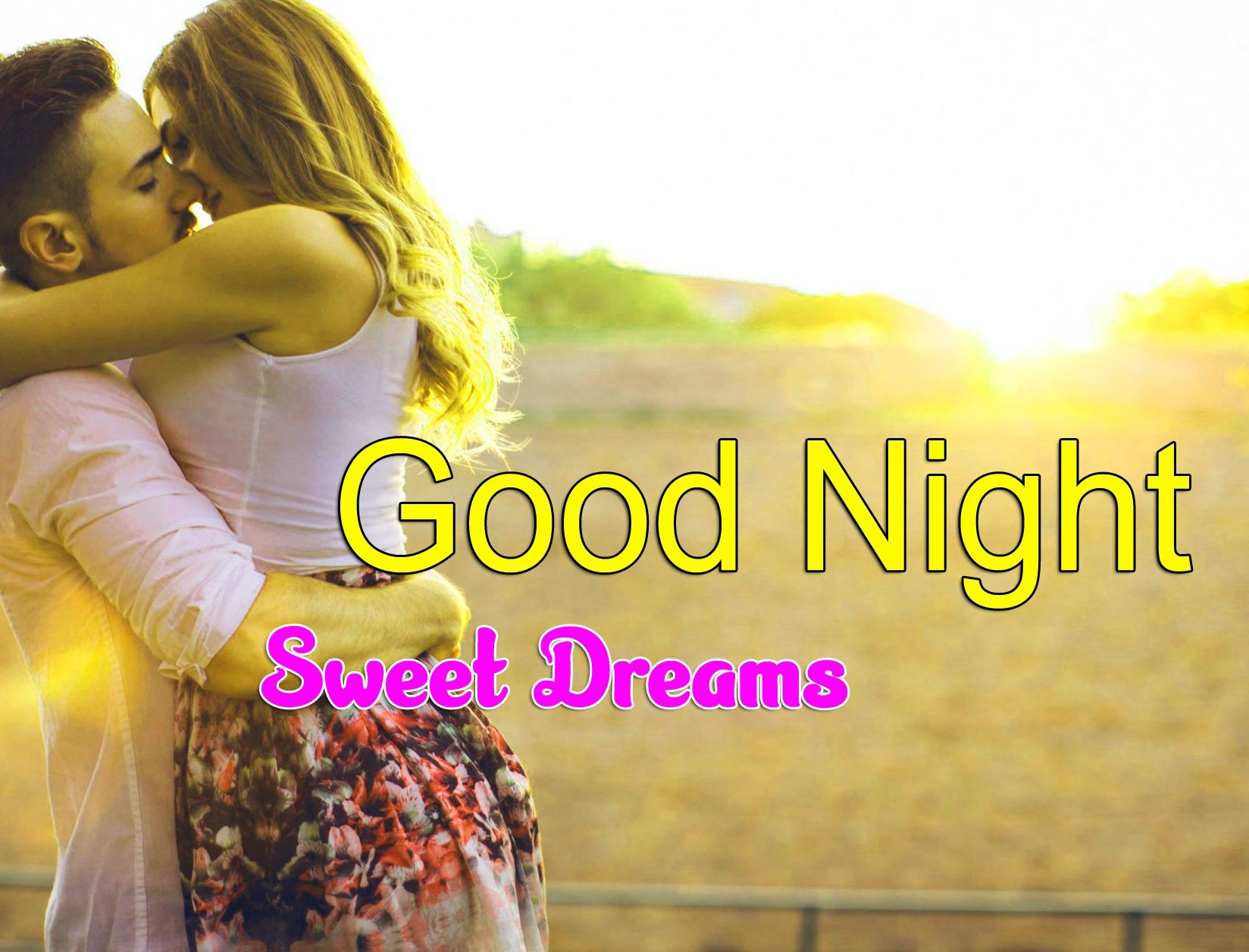 Girlfriend Good Night Wishes Wallpaper Download