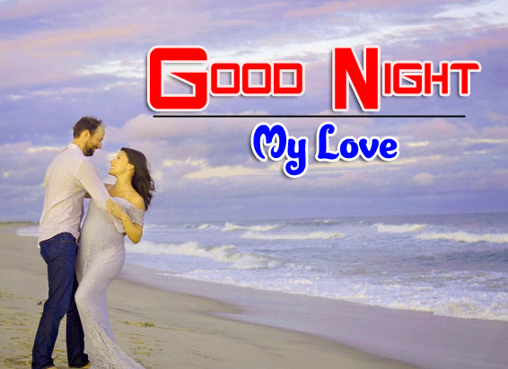 Girlfriend Good Night Wishes Wallpaper for Whatsapp