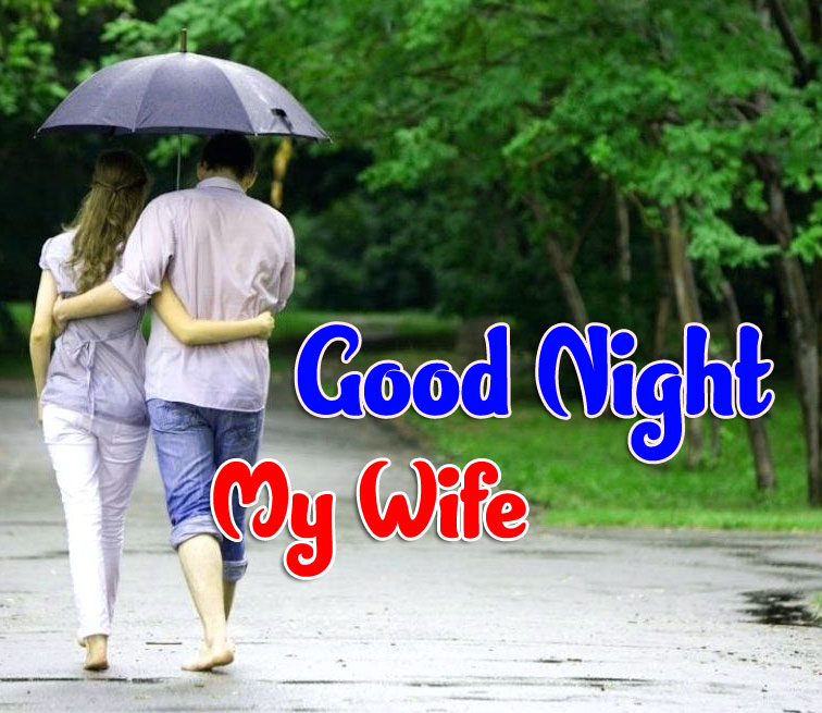 Girlfriend Good Night Wishes Wallpaper for Whatsapp