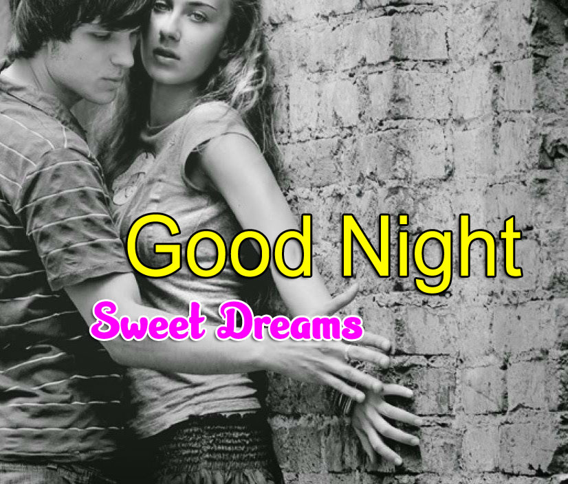 Sweet Couple Girlfriend Good Night Wishes Images