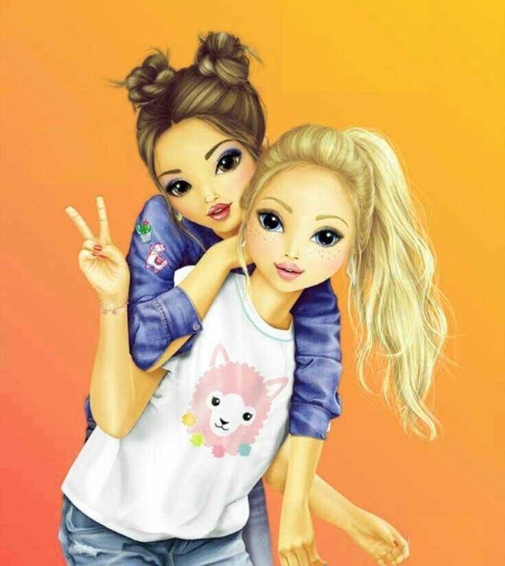 Cartoon Girls Nice Whatsapp Dp Images