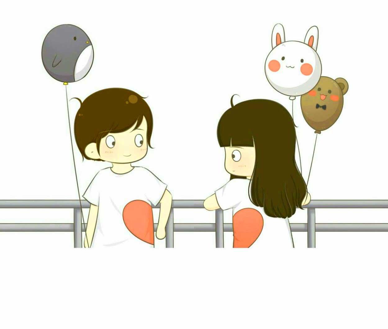 Free Love Couple Cartoon Nice Whatsapp Dp Images Pics Download