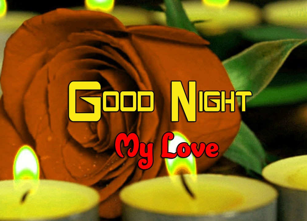 Good Night Wishes Images for Whatsapp With Red Rose