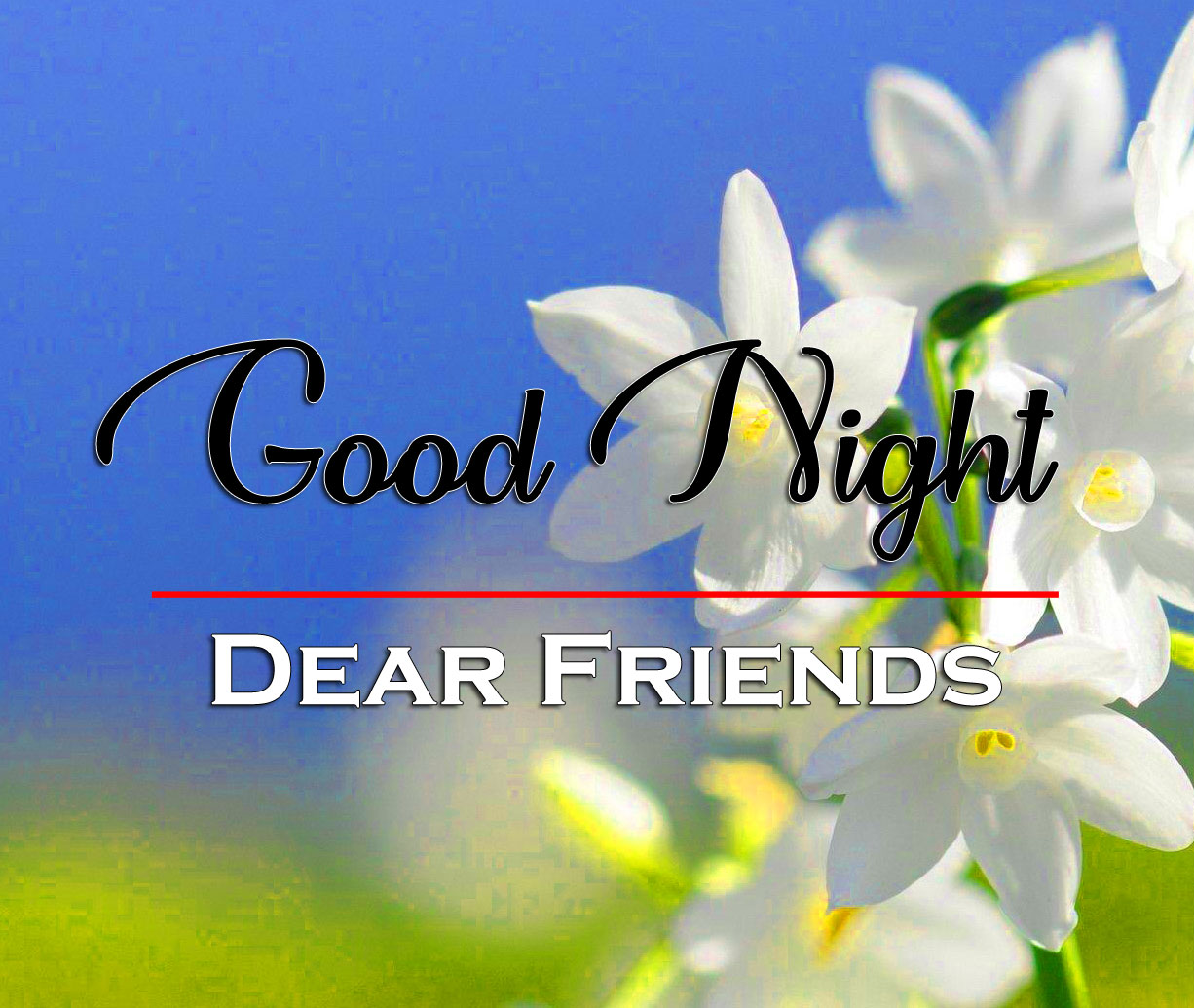 HD Good Night Wallpaper With Flower