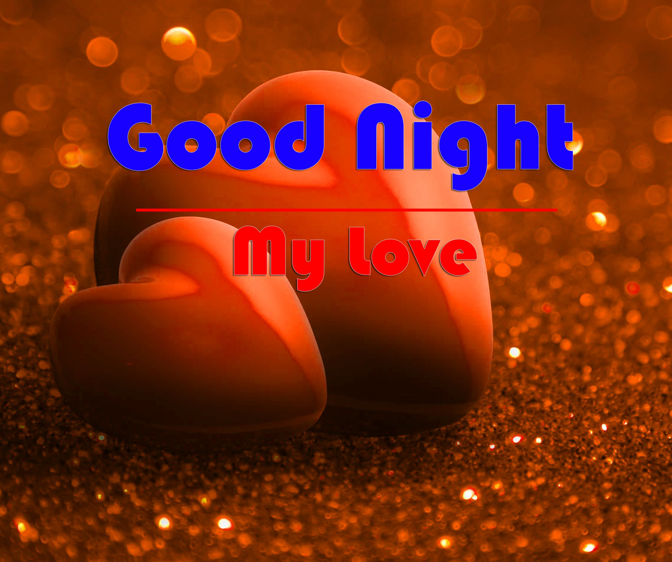 HD Good Night Wallpaper With Heart