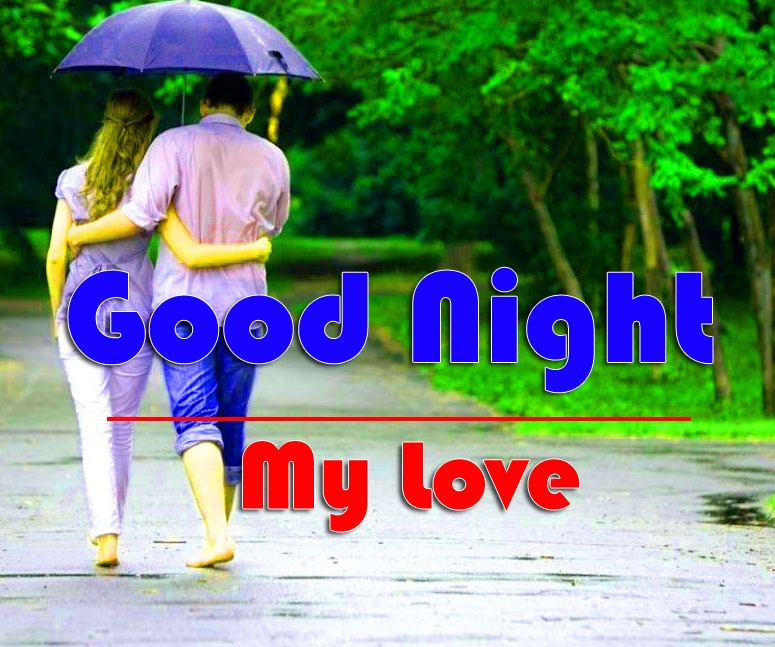 HD Good Night Wallpaper With Love Couple