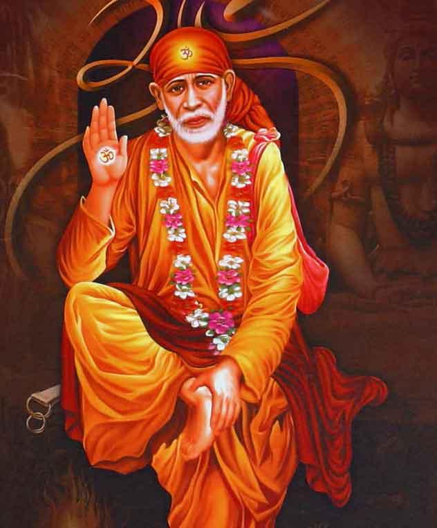 nice lord Sai Baba hd wallpaper